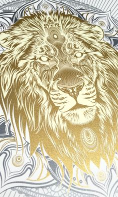 Image of White Lion Mandala Artist Proof