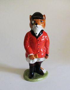 vintage Fox huntsman figurine vintage English by RelativelyStable, $65.00