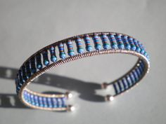 Rainbow sky resistors cuff bangle bracelet. $10.00, via Etsy.