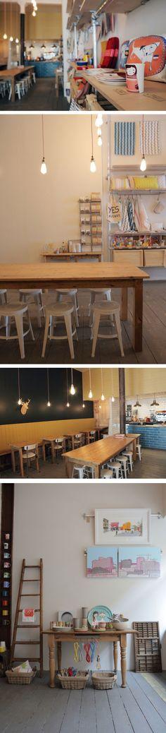 Love the shop interior Fig & Sparrow Manchester - (found via Creative Boom)