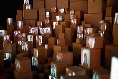 kimchi and chips creates a constantly evolving city of paper boxes ...