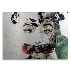 Trademark Fine Art Audrey Large Canvas Wall Art, Multicolor
