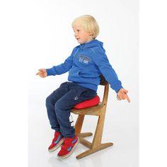 Le coussin Dynair facilite la concentration des enfants hyperactifs/TDAH car il apporte une sensation de mouvement lorsque l'on est assis dessus.
