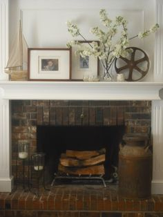 Fireplace Decorations Beauteous White Fireplace Mantels Decorating With Globe And Mirror  Http Inspiration Design