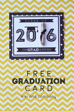 Print off this card and add money for the perfect graduation present - and it's ready in 10 minutes! Easy graduation gift idea and printable card!