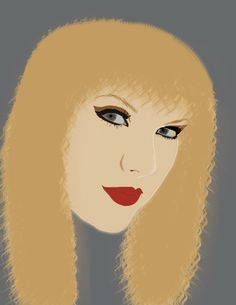 Rotoscoped Portrait of Taylor Swift (Photoshop)