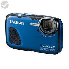 Canon PowerShot D30 Waterproof Digital Camera, Blue - Photo stuff (*Amazon Partner-Link)