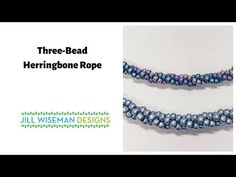 Three-Bead Spiral Herringbone Rope with Jill Wiseman ~ Seed Bead Tutorial Beaded Necklace Patterns, Beaded Bracelets Tutorial, Necklace Tutorial, Beading Tutorials, Beading Patterns, Bead Crochet Rope, Bead Jewellery, Bead Earrings, Bead Weaving