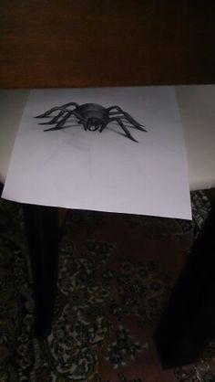 3d örümcek çizimi