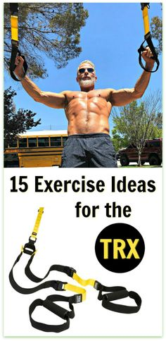 The TRX is a simple fitness tool that can be kept in your home gym, your car trunk (for an outdoor workout), or you can use the straps located at your local workout studio. Here are 15 healthy exercise ideas to help you firm your entire body. #TRX #overfiftyandfit #suspension #straps #fitness #homegym #workout #over50 #fitness #exercise #ideas #firm #body