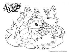 Animal Jam Carnival Coloring Page Animaljam Animal Jam