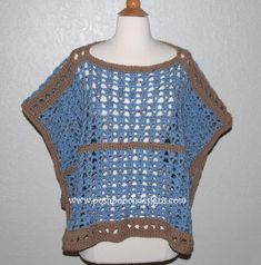 Sand and Sea Crochet Poncho | AllFreeCrochet.com