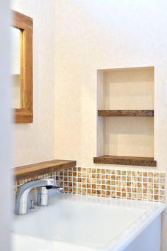 自然素材の素朴な風合いが、#おうちカフェのような家 #洗面室 #おしゃれ #カフェ #造作 #マイホーム