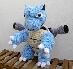 Amigurumi Blastoise by Amigurumi Torino Pokemon Blastoise, Pokemon Toy, Pokemon Stuff, Pokemon Crochet Pattern, Amigurumi Patterns, Crochet Patterns, Diy Crochet, Crochet Toys, Crochet Dragon