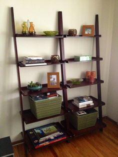 ideas for leaning shelves