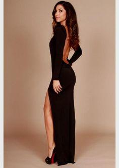 Black Peplum Dress With Sleeves Plus Size | LongSleeve Dress ...