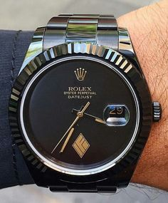 """It's a X Limited Edition Gilt Gold Logo on dial. """"If you can imagine it, we can create it. Dream Watches, Cool Watches, Rolex Watches, Watches Usa, Men Sunglasses Fashion, Mens Sunglasses, Billionaire Lifestyle, Rolex Oyster Perpetual, Luxury Watches For Men"""