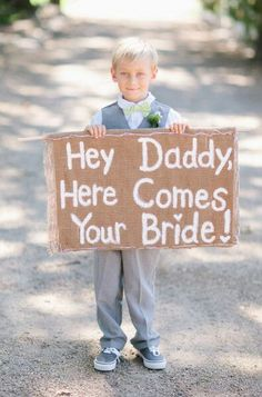 Sign for our boys to carry, renewing vows