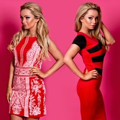 Ciara Middle Panel Bodycon Dress in Red  £16.99 Lyla Lace Print Bodycon Dress in Red  £19.99