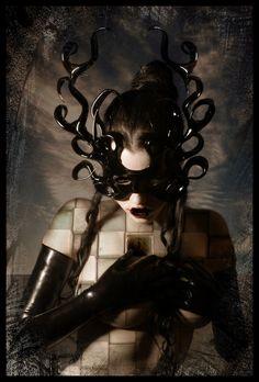 by gncd - Dark / Gothic Art Dark Gothic Art, Dark Art, Bizarre Art, Beautiful Mask, Beautiful Life, Beautiful Things, Masquerade Party, Masquerade Masks, Black Mask