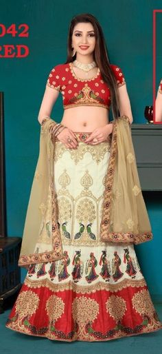 Red Banglori Silk A Line Lehenga Choli 144494 Lehenga Choli, Sari, Sabyasachi, Beautiful Athletes, Party Wear, Designer Lehanga, Chiffon, Hindu Art, Gowns