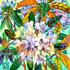 Peach Rhododendrons.  Sofiaperinamiller
