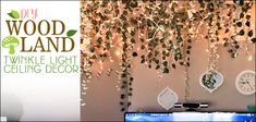DIY Woodland Twinkle Light Ceiling Decor How to do a Sturdy & Stunning Granite Contact Paper Counter Ceiling Decor, Ceiling Lights, Craft Stick Crafts, Craft Sticks, Diy Bench Seat, Countertop Makeover, Build A Closet, Glass Bottle Crafts, Easy Diy