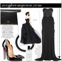 Sexy Prom Gown #2 by makingastatement on Polyvore featuring Badgley Mischka, Sherri Hill, Christian Louboutin, Valentino, Agonist and sexypromgown