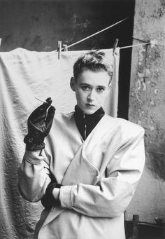 """Allerleirauh"" independent fashion design group, fashion photography, 1988, East Berlin, GDR. photo by Sibylle Bergemann (1941-2010)."