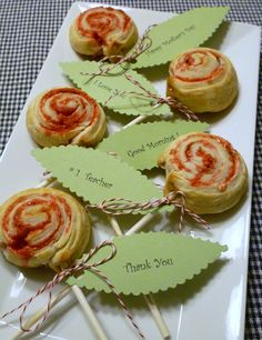Puff pastry rose pops