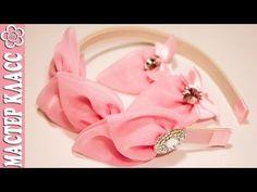 Подарочный набор заколок и ободок Канзаши / Видео мастер класс - YouTube