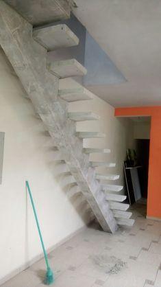 escada viga central modelo rampa