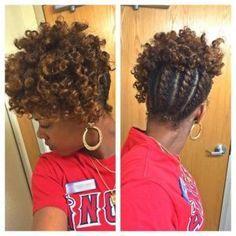 Flat-Twist-Natural-Hair-Updo-African-American-Braid #naturalhairstylesmedium