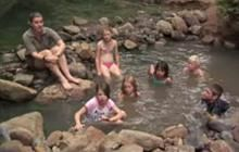 Image from the Meet the Locals - Kaitoke hot springs video. Image copyright: TVNZ.