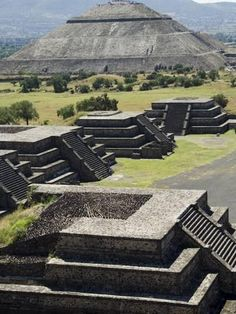 Avenue of the Dead and the Pyramid of the Sun in Background, North of Mexico City, Mexico-Robert Harding-Photographic Print Mayan Ruins, Ancient Ruins, Ancient Greek, Central America, North America, Ancient Architecture, Aztec Architecture, Archaeological Site, Ancient Civilizations