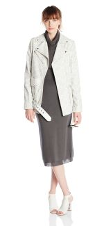 Independent Designers www.alirose.com #fashion #white #jacket #grey #dress #ivory #casual #emergingdesigner #model #whites #amocnyc #nyc #nyfw