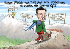 Naar de top! - De Karikaturist