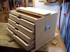Recently i have made a traditional tool chest by hand. A medium tool chest take hours work to ready for finally finish. Today I will make a DIY project of… Wood Tool Box, Wooden Tool Boxes, Wood Tools, Tool Box Diy, Woodworking Workbench, Woodworking Shop, Woodworking Projects, Diy Projects, Woodworking Equipment