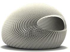 Project Egg,by Dutch designer Michiel van der Kley , is a pavilion made up of 4,760 3D-printed 'stones.'
