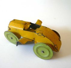 Vintage Tin Lithograph Toy Car Winged by #vintagereinvented on Etsy,