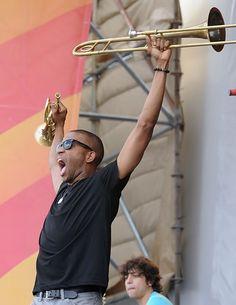 "Trombone Shorty, Newport Folk Fest 2013. So. much. fun. ""Little Liza Jane"" was a highlight of the day."