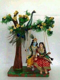 Radha krishna.......... … Radha Krishna Mandir, Krishna Statue, Jai Shree Krishna, Radha Krishna Love, Krishna Radha, Lord Krishna, Yashoda Krishna, Indian Gods, Indian Art