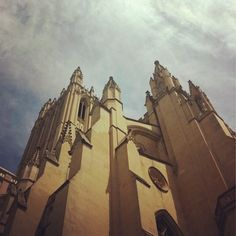 Looking up at the #nationalcathedral - @wncathedral - where many #dcguild guides are certified #tourguide! by dcguild