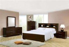 Jessica Contemporary Cappuccino Master Bedroom Set