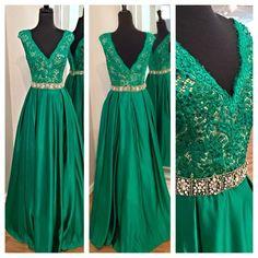 High quality V-neck prom dress,long prom dress,beautiful beading prom dress L329