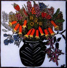 """Christmas Bells"" by Australian Artist Margaret Preston Art Print by patriciannek Australian Painters, Australian Artists, Linocut Prints, Art Prints, Margaret Preston, Australian Native Flowers, Christmas Bells, Botanical Art, Hand Coloring"