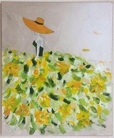 TABLEAU MODERNE FEMME ROBE COLOREE (21) - tableau multicolore, tableau femme  : Peintures par sonia-creation