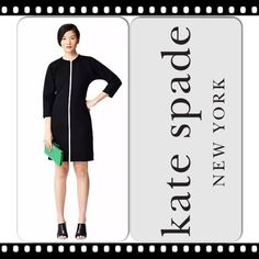 """TRENDINGkate spade Saturday Slim Zip Dress ~ NWT kate spade Saturday Slim Zip Scuba Dress ~ Work to Weekend in this awesome dress ~Crew neck ~ Front zip closure ~ 3/4 length sleeves ~ Approx. 37"""" length ~ #2134 Trades or Holds ✅ Use offer option ❤️ Bundles kate spade Dresses"""