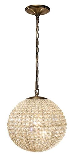 Crystorama - Antique Brass Wrought Iron Crystal Chandelier