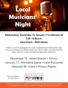Free performances by local musicians!